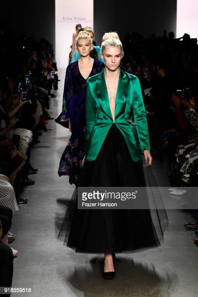 A model walks the runway for Irina Vitjaz during New York Fashion Week The Shows at Gallery I at Spring Studios on February 14 2018 in New York City