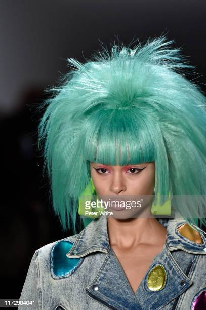 A model walks the runway for Jeremy Scott during New York Fashion Week The Shows at Gallery I at Spring Studios on September 06 2019 in New York City