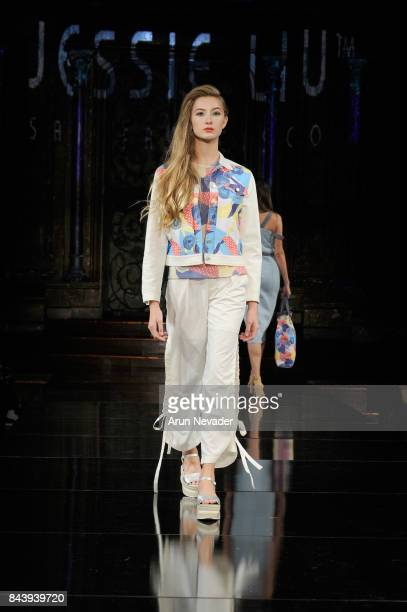 A model walks the runway for Jessie Liu Fashion Show at Art Hearts Fashion SS/18 at The Angel Orensanz Foundation on September 7 2017 in New York City