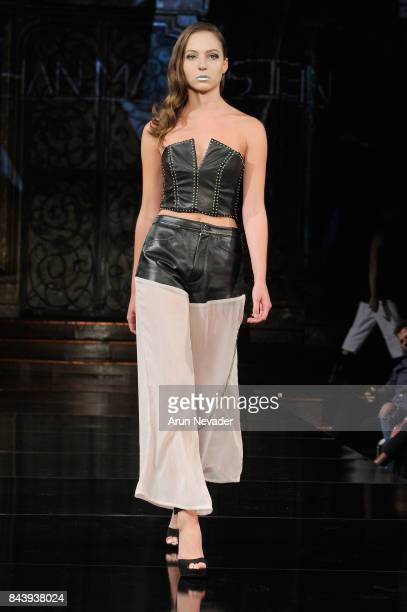 Model walks the runway for Jonathan Marc Stein Fashion Show at Art Hearts Fashion SS/18 at The Angel Orensanz Foundation on September 7, 2017 in New...