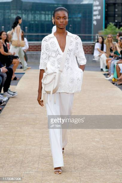 Model walks the runway for Jonathan Simkhai during New York Fashion Week: The Shows on September 09, 2019 in New York City.