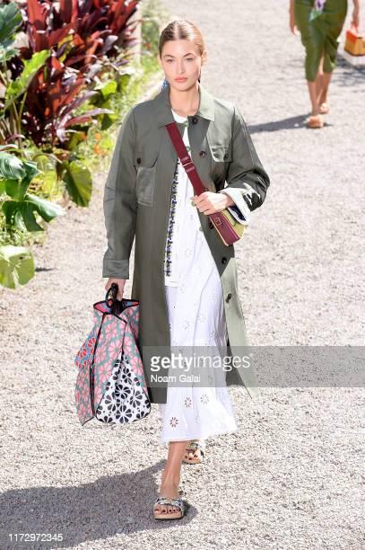 Model walks the runway for Kate Spade New York during New York Fashion Week at Elizabeth Street Gardens on September 07, 2019 in New York City.