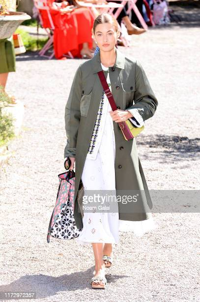 A model walks the runway for Kate Spade New York during New York Fashion Week at Elizabeth Street Gardens on September 07 2019 in New York City