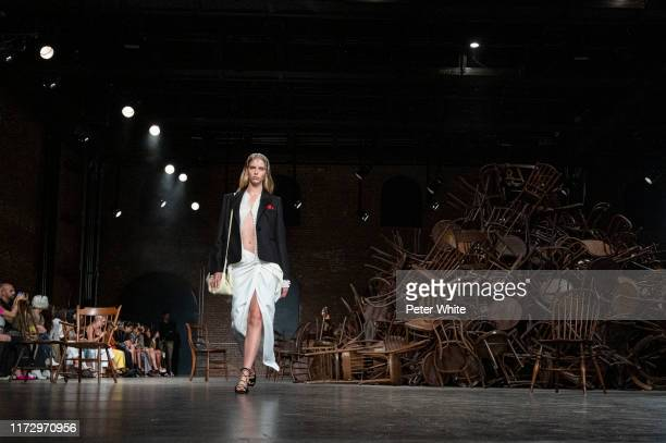 A model walks the runway for Khaite during New York Fashion Week The Shows on September 07 2019 in New York City