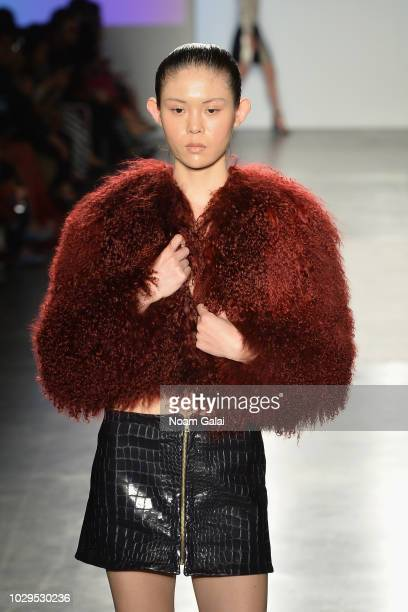 A model walks the runway for Kirsten Ley at Global Fashion Collective II during New York Fashion Week The Shows on September 8 2018 in New York City