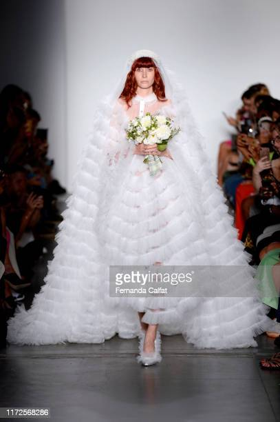A model walks the runway for Laurence Chico during New York Fashion Week The Shows on September 05 2019 in New York City