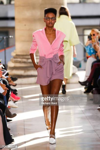 A model walks the runway for LIE during the K Fashion show as part of the Paris Fashion Week Womenswear Spring/Summer 2019 on September 29 2018 in...