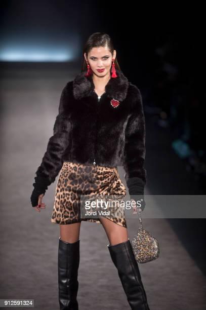 A model walks the runway for Lola Casademunt during Barcelona 080 Fashion Week at Hospital Sant Pau on January 31 2018 in Barcelona Spain