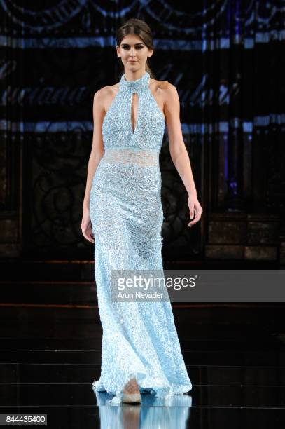 A model walks the runway for Luciana Adulari at New York Fashion Week NYFW Art Hearts Fashion at The Angel Orensanz Foundation on September 8 2017 in...