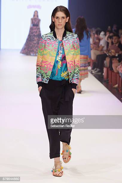 A model walks the runway for Maison Common as part of the Platform Fashion Selected show during Platform Fashion July 2016 at Areal Boehler on July...