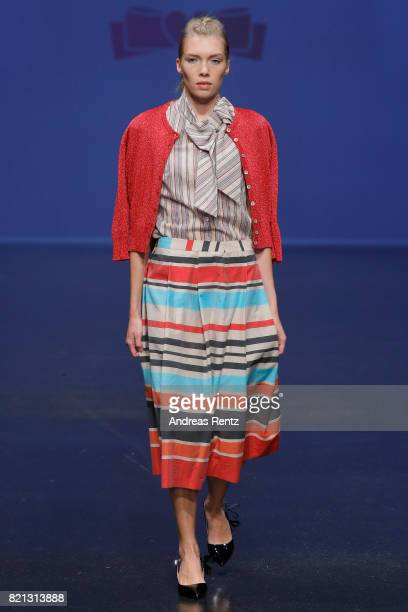 A model walks the runway for 'Maison Common' at the PF Selected show during Platform Fashion July 2017 at Areal Boehler on July 23 2017 in...
