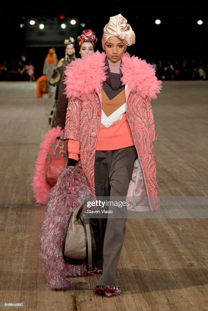 A model walks the runway for Marc Jacobs SS18 fashion show during New York Fashion Week at Park Avenue Armory on September 13, 2017 in New York City.