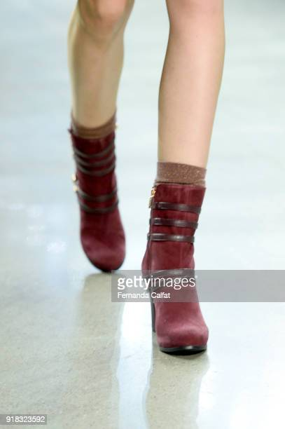 A model walks the runway for Marcel Ostertag shoe detail during New York Fashion Week The Shows at Gallery II at Spring Studios on February 14 2018...