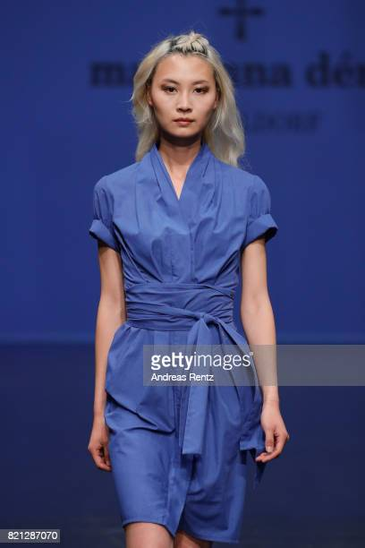 A model walks the runway for 'Marianna Deri' at the Fashionyard show during Platform Fashion July 2017 at Areal Boehler on July 23 2017 in...