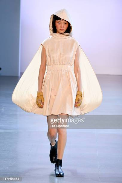 A model walks the runway for Mark Gong during New York Fashion Week The Shows at Gallery II at Spring Studios on September 05 2019 in New York City