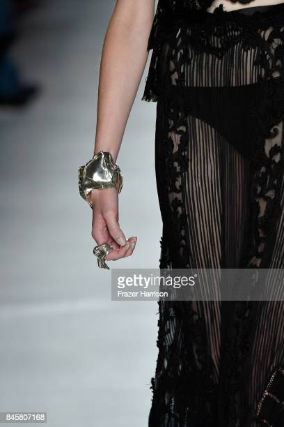 A model walks the runway for Mimi Prober fashion show during New York Fashion Week The Shows at Gallery 3 Skylight Clarkson Sq on September 11 2017...