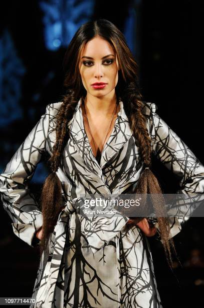 A model walks the runway for MISTER TRIPLE X At New York Fashion Week Powered By Art Hearts Fashion NYFW at The Angel Orensanz Foundation on February...