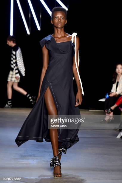 A model walks the runway for Monse during New York Fashion Week The Shows at SIR Stage 37 on September 7 2018 in New York City