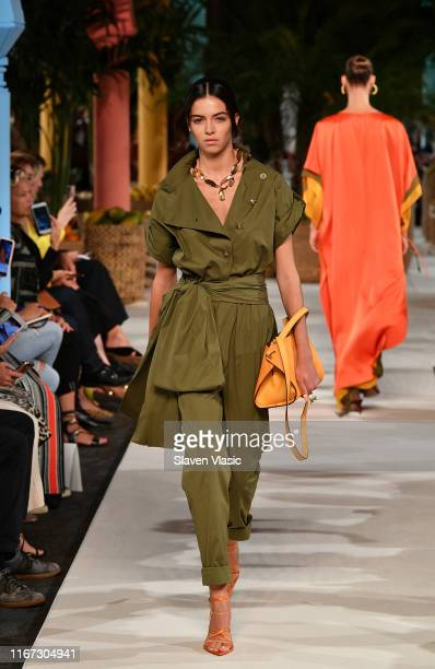 Model walks the runway for Oscar de la Renta during New York Fashion Week: The Shows on September 10, 2019 in New York City.