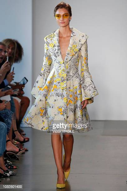 Model walks the runway for Pamella Roland Spring/Summer 2019 during New York Fashion Week on September 6, 2018 in New York City.