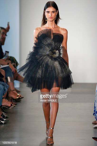 A model walks the runway for Pamella Roland Spring/Summer 2019 during New York Fashion Week on September 6 2018 in New York City