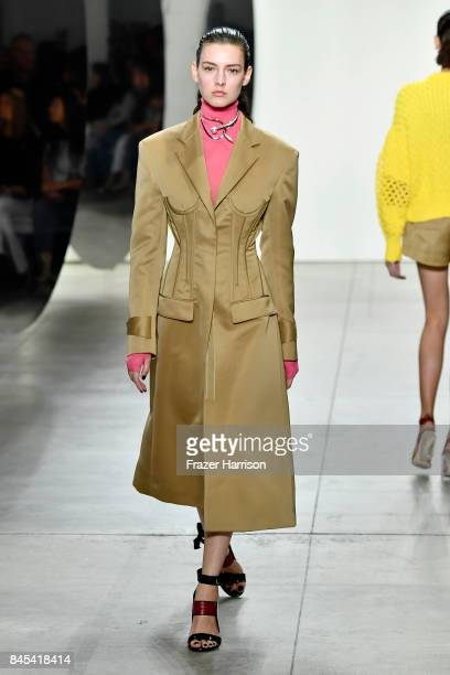 A model walks the runway for Prabal Gurung fashion show during New York Fashion Week The Shows at Gallery 2 Skylight Clarkson Sq on September 10 2017...