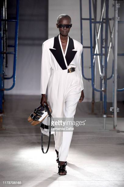 A model walks the runway for Proenza Schouler during New York Fashion Week The Shows on September 10 2019 in New York City
