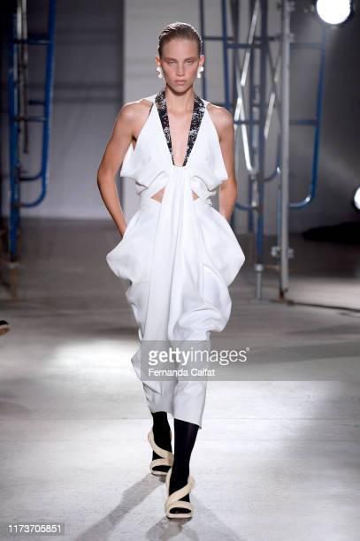 Model walks the runway for Proenza Schouler during New York Fashion Week: The Shows on September 10, 2019 in New York City.
