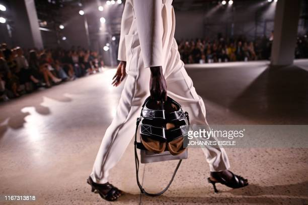 Model walks the runway for Proenza Schouler's Spring 20 collection show during New York Fashion Week on September 10, 2019 in New York City.