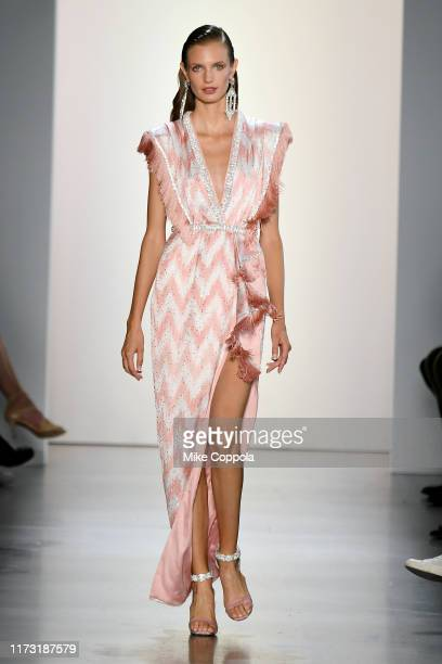 A model walks the runway for Raisavanessa during New York Fashion Week The Shows at Gallery I at Spring Studios on September 08 2019 in New York City