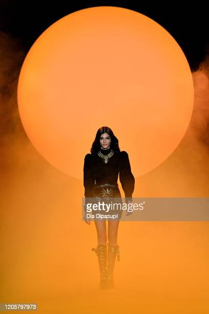 Model walks the runway for Raisavanessa during New York Fashion Week: The Shows at Gallery I at Spring Studios on February 12, 2020 in New York City.