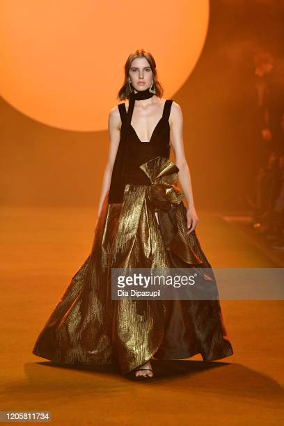 A model walks the runway for Raisavanessa during New York Fashion Week The Shows at Gallery I at Spring Studios on February 12 2020 in New York City