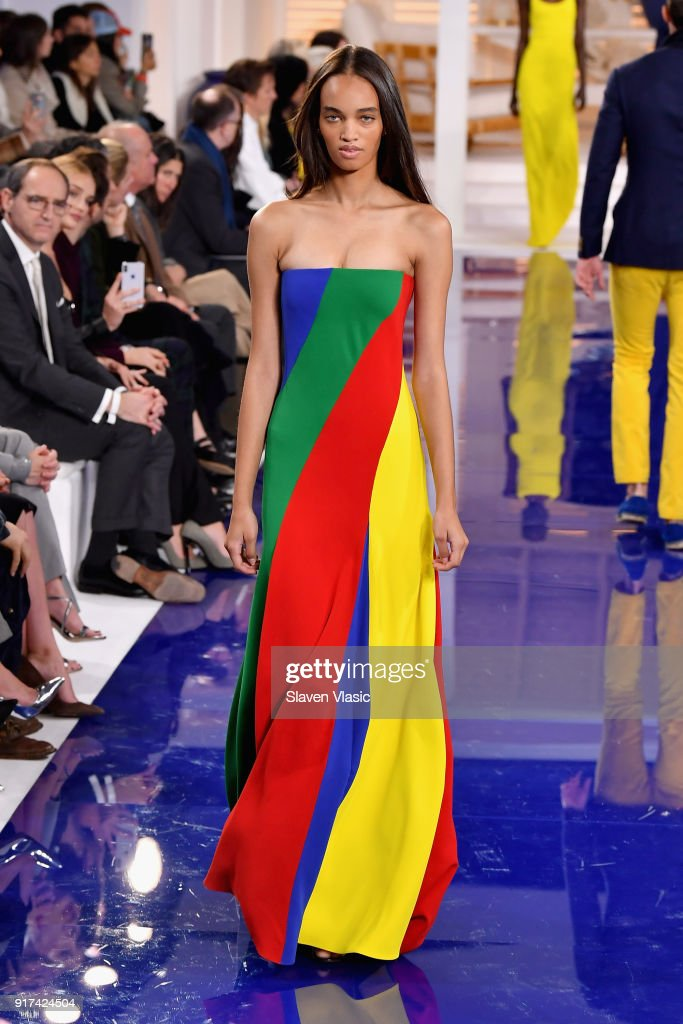 A model walks the runway for Ralph Lauren during New York Fashion Week: The Shows at on February 12, 2018 in New York City.