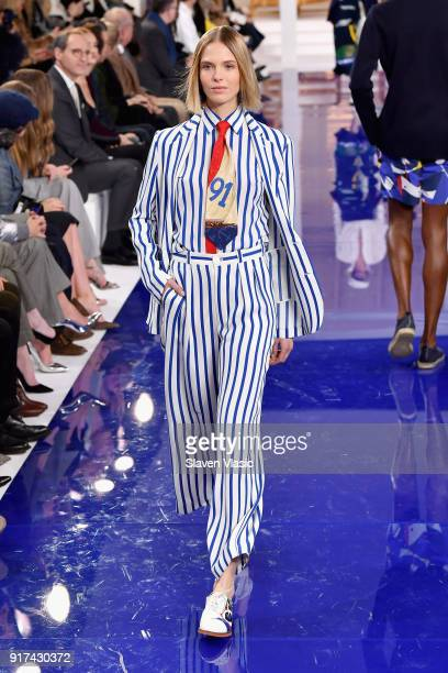 A model walks the runway for Ralph Lauren during New York Fashion Week The Shows at on February 12 2018 in New York City
