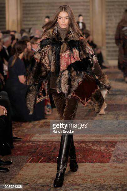 bad42a964a1 A model walks the runway for Ralph Lauren fashion show during New York  Fashion Week at