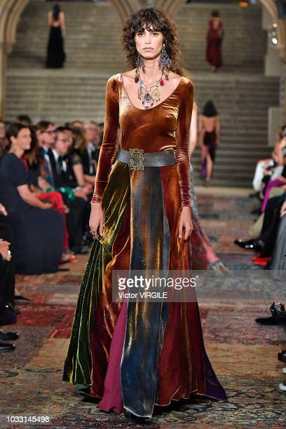 Model walks the runway for Ralph Lauren fashion show during New York Fashion Week on September 7, 2018 in New York City.