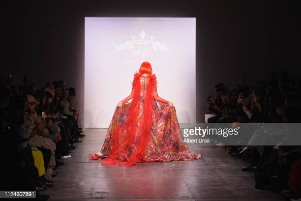 A model walks the runway for RC Caylan Atelier at the The CAAFD Emerging Designer Showcase Fashion Show during New York Fashion Week The Shows at...