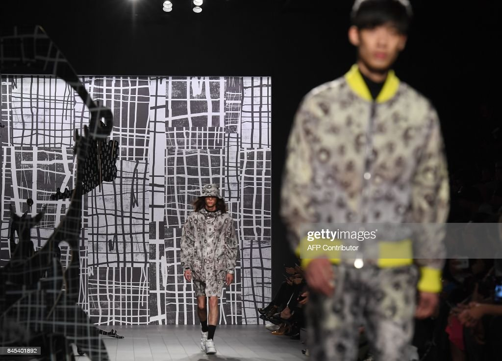 A model walks the runway for Rochambeau fashion show during New York Fashion Week: The Shows at Gallery 1, Skylight Clarkson Sq on September 10, 2017 in New York City. /