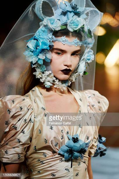 Model walks the runway for Rodarte during New York Fashion Week: The Shows at St. Bart's Church on February 11, 2020 in New York City.