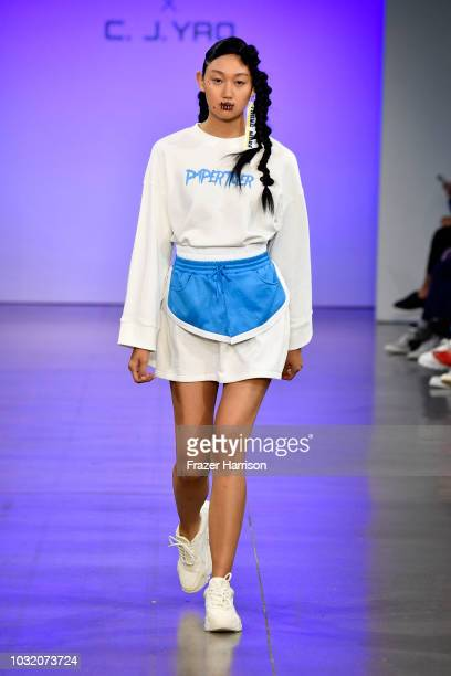 A model walks the runway for Semir X CJ Yao fashion show during September 2018 New York Fashion Week The Shows at Gallery II at Spring Studios on...