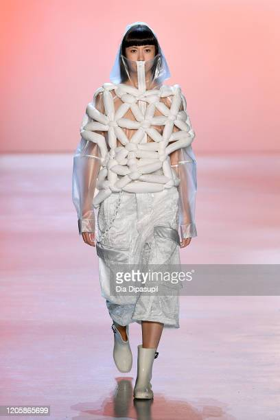 A model walks the runway for Seven Crash during New York Fashion Week The Shows at Gallery I at Spring Studios on February 12 2020 in New York City