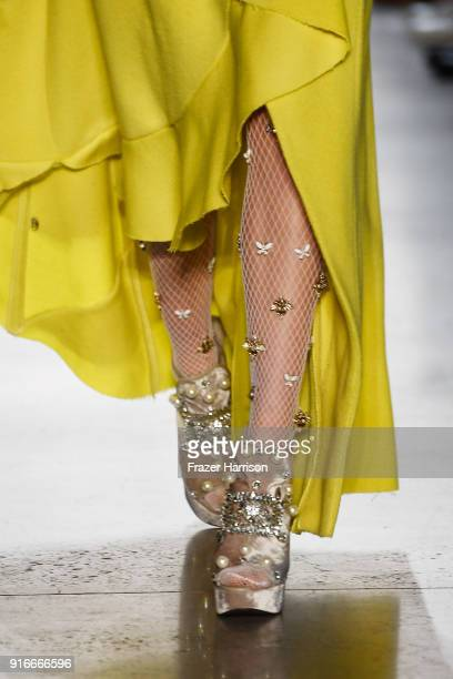 A model walks the runway for Son Jung Wan during New York Fashion Week The Shows at Gallery I at Spring Studios on February 10 2018 in New York City