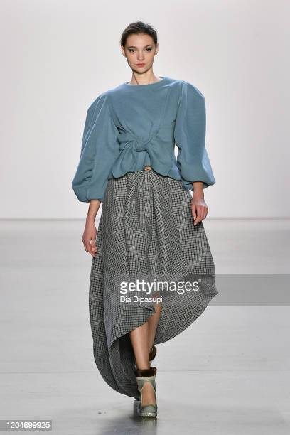 A model walks the runway for Son Jung Wan fashion show during February 2020 New York Fashion Week The Shows at Gallery I at Spring Studios on...