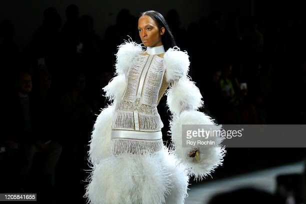 A model walks the runway for Sukeina during New York Fashion Week The Shows in Gallery I at Spring Studios on February 12 2020 in New York City