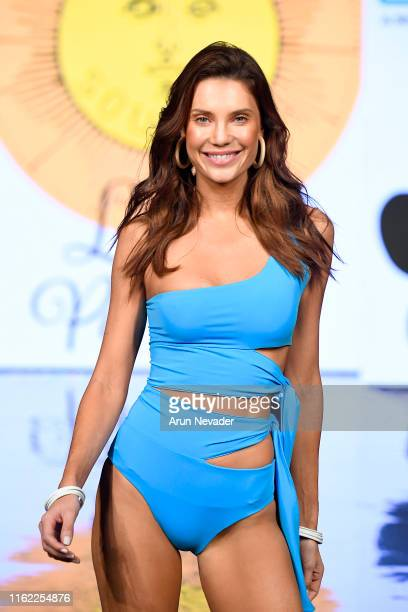 Model walks the runway for Surf Souleil Presented by Tito's Vodka At Miami Swim Week Powered By Art Hearts Fashion Swim/Resort 2019/20 at Faena Forum...