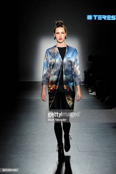 A model walks the runway for Terese Sydonna at the Harlem's Fashion Row fashion show during New York Fashion Week September 2016 at Pier 59 on...