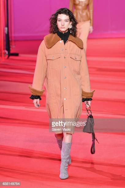 A model walks the runway for the 31 Phillip Lim collection during New York Fashion Week The Shows at Spring Studios on February 13 2017 in New York...