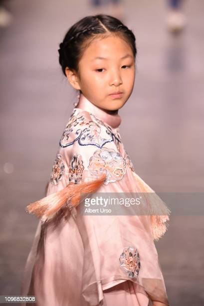 A model walks the runway for the Amelie Wang fashion show during New York Fashion Week The Shows at Industria Studios on February 9 2019 in New York...