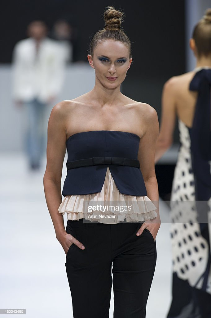 A model walks the runway for The Best of Saks Fifth Avenue fashion show during El Paseo Fashion Week 2014 on March 21, 2014 in Palm Desert, California.