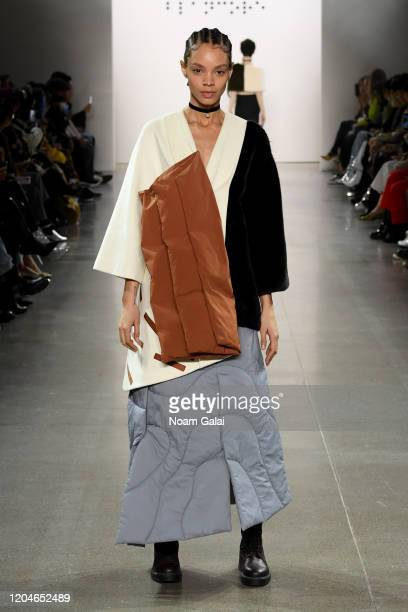 A model walks the runway for the Blancore fashion show during February 2020 New York Fashion Week The Shows at Gallery II at Spring Studios on...